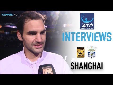 Federer Reacts After Capturing Second Shanghai Title