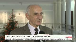 Trybunał Konstytucyjny zbada zmiany w OFE (TVP Info, 30.12.2013)