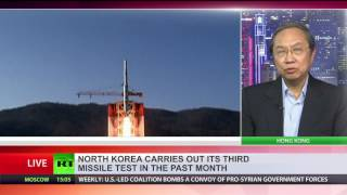 North Korea launches ballistic missile of unknown type, third test in month