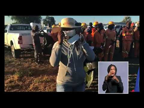 Ndapanda Shuuya on the line from Omusati giving an update on the clean up-NBC