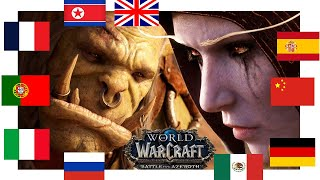 "World of Warcraft - ""The HORDE IS NOTHING!"" in all languages"