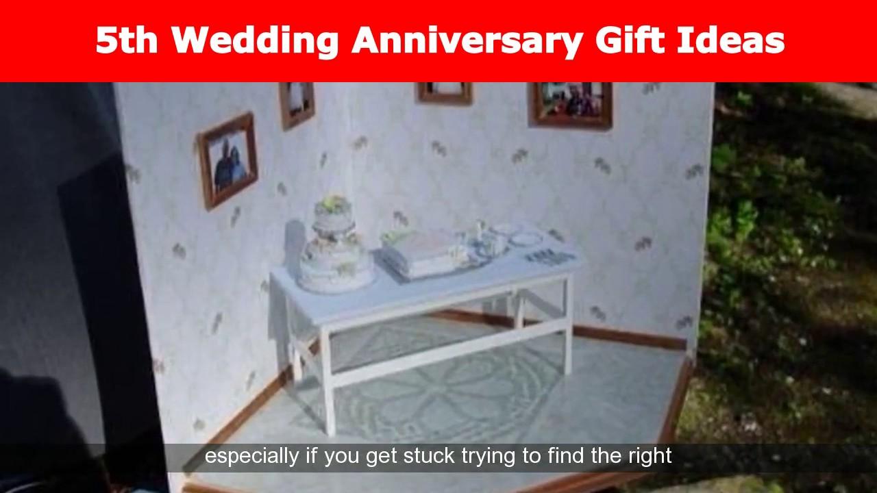 5th Year Wedding Anniversary Gift Ideas