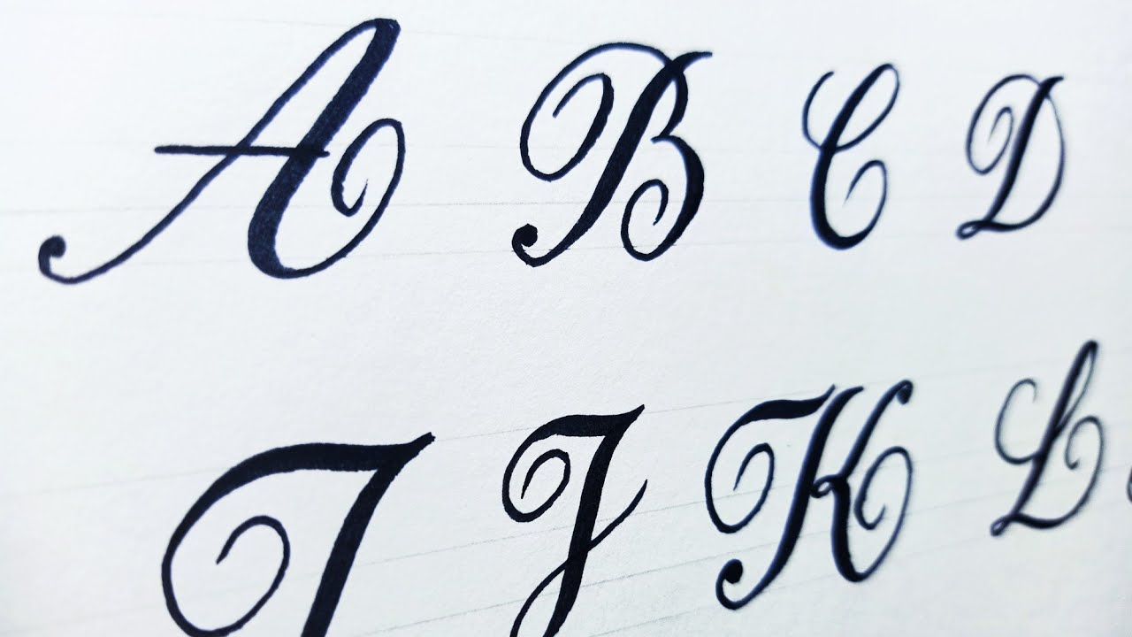 Fancy letters - How to write stylish capital alphabets a to z - Using  marker 23
