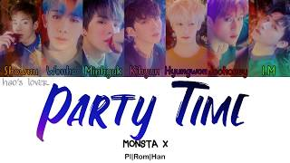 Monsta x (몬스타엑스) - party time [color coded lyrics (pl|rom|han)]