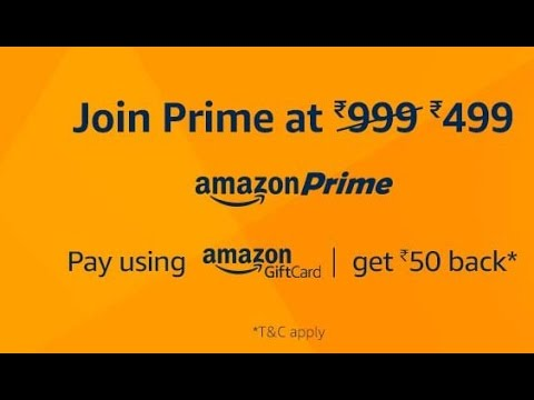 Amazon Prime Membership Gift Card Youtube