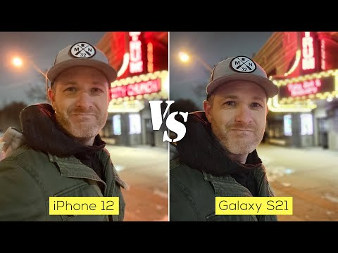 Samsung Galaxy S21 versus iPhone 12 camera comparison