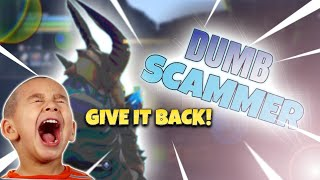 DUMB FORTNITE SCAMMER GETS SCAMMED! (Fortnite Save the World) *SCREAMING*