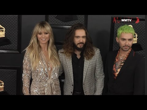 Heidi Klum, Tom Kaulitz, Bill Kaulitz Arrive At 2020 Grammy Awards Red Carpet