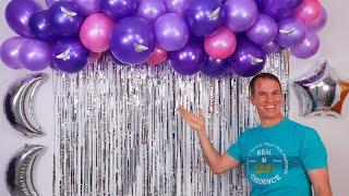 Decoracion para cumpleaños - Cortinas de papel - decoracion con globos - Gustavo gg