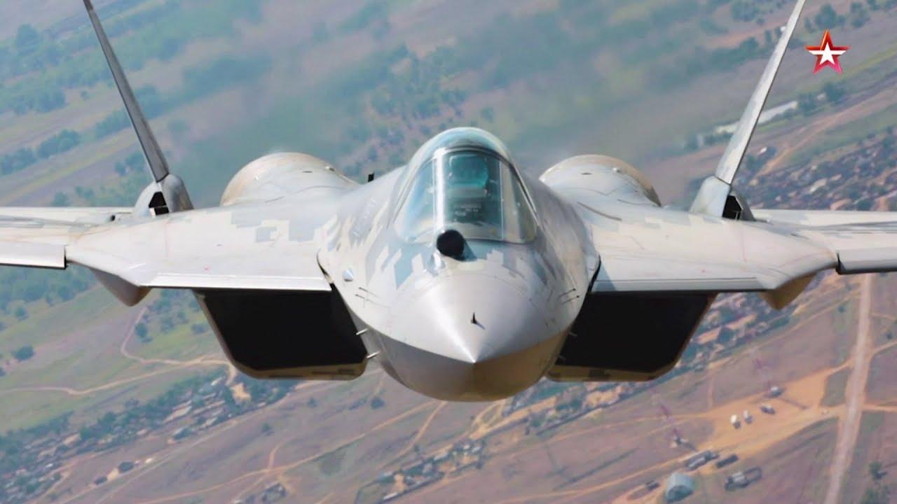 Уникальная съемка полёта новейших Су-57