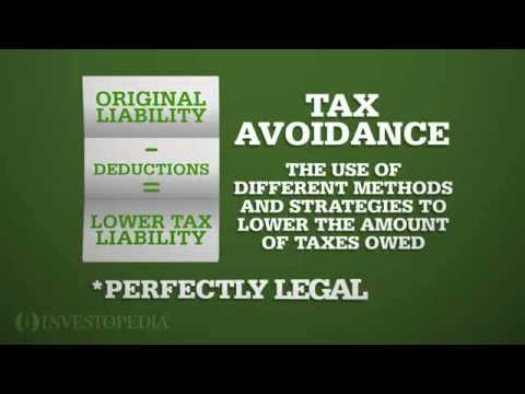 Investopedia Video: Tax Avoidance vs Tax Evasion