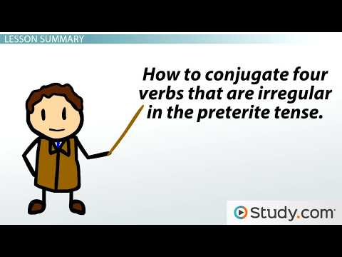 Preterite Conjunctions Of Some Common Verbs In Spanish