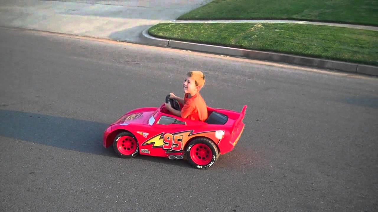 lightning mcqueen power wheels modified upgraded from 6v. Black Bedroom Furniture Sets. Home Design Ideas