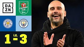 Arijanet Muric lässt Pep Guardiola jubeln: Leicester - City 1:3 i.E. | Carabao Cup | DAZN Highlights