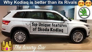 Top 10 Unique Features of Skoda kodiaq | Reason to Buy Kodiaq over Fortuner and Endeavour