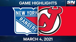 NHL Game Highlights | Rangers vs. Devils - March 04, 2021