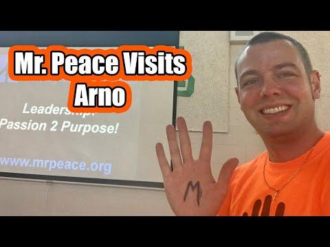 Mr. Peace Visits Arno Elementary School in Allen Park, Michigan