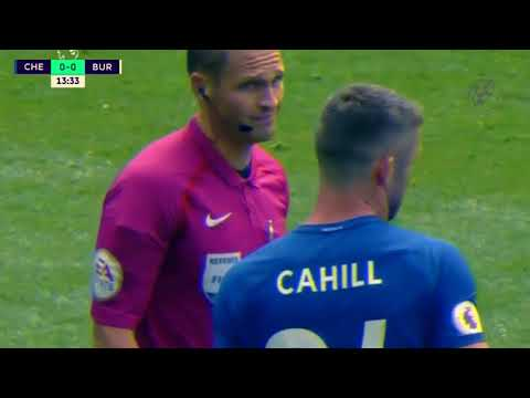 GARY CAHILL CONTROVERSIAL RED CARD TACKLE AGAINST BURNLEY