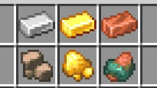 Raw Iron, Raw Gold, and Raw Copper (Minecraft 1.17 Update)
