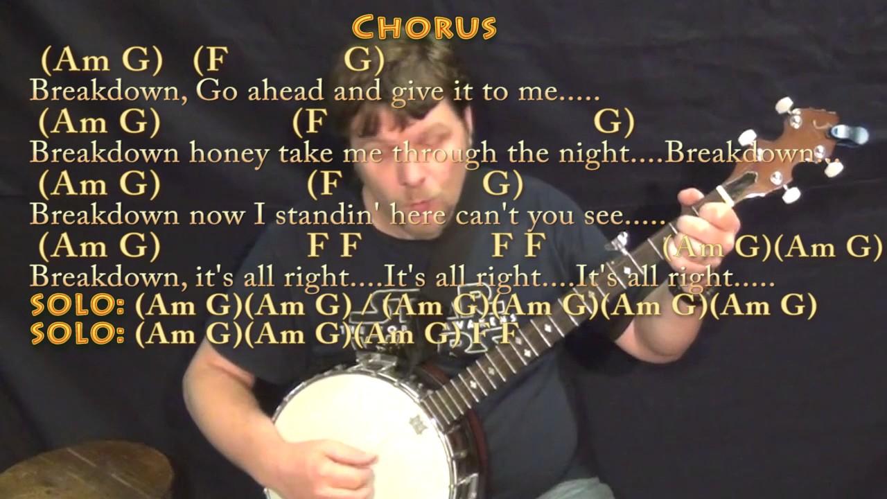 Breakdown tom petty banjo cover lesson in am with chordslyrics breakdown tom petty banjo cover lesson in am with chordslyrics hexwebz Images