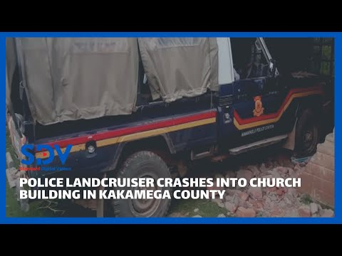 Drama in Kakamega County as police vehicle crashes into church building