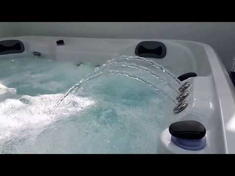 The Antigua in the Better Living Outdoors Hot Tub Showroom Durham