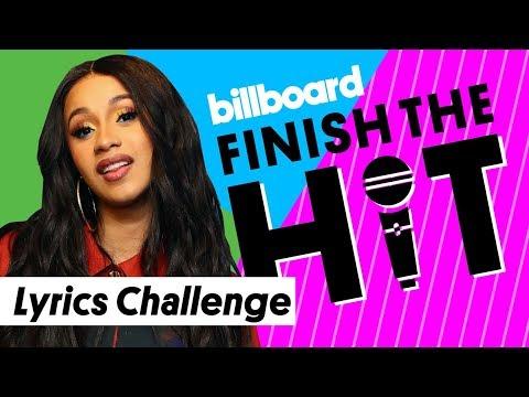 Cardi B Lyrics Challenge | Finish the Hit | Billboard