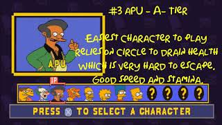 The Simpsons Wrestling  - Official Tier List