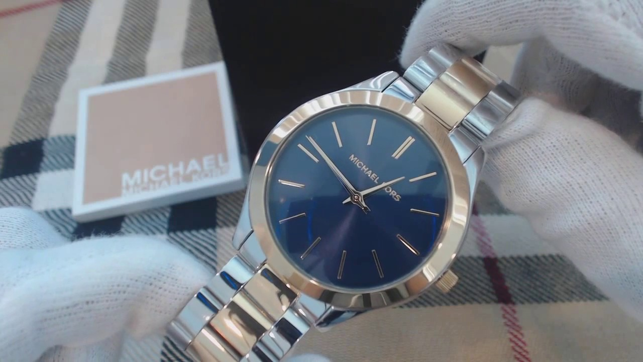 a642d822bc61 Women s Michael Kors Slim Runway Silver And Gold Watch MK3479 - YouTube