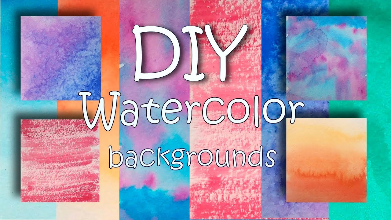 6 Easy Watercolor Background Ideas for Hand Lettering