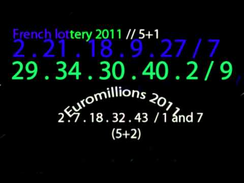 Number to play in France to win the lotto and Euromillions in 2011 French lottery Euromillions