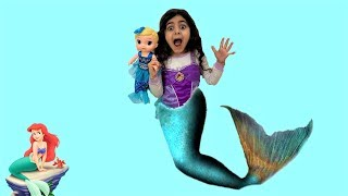 Sally Transforms into Mermaid in Real Life Pretend Play!!