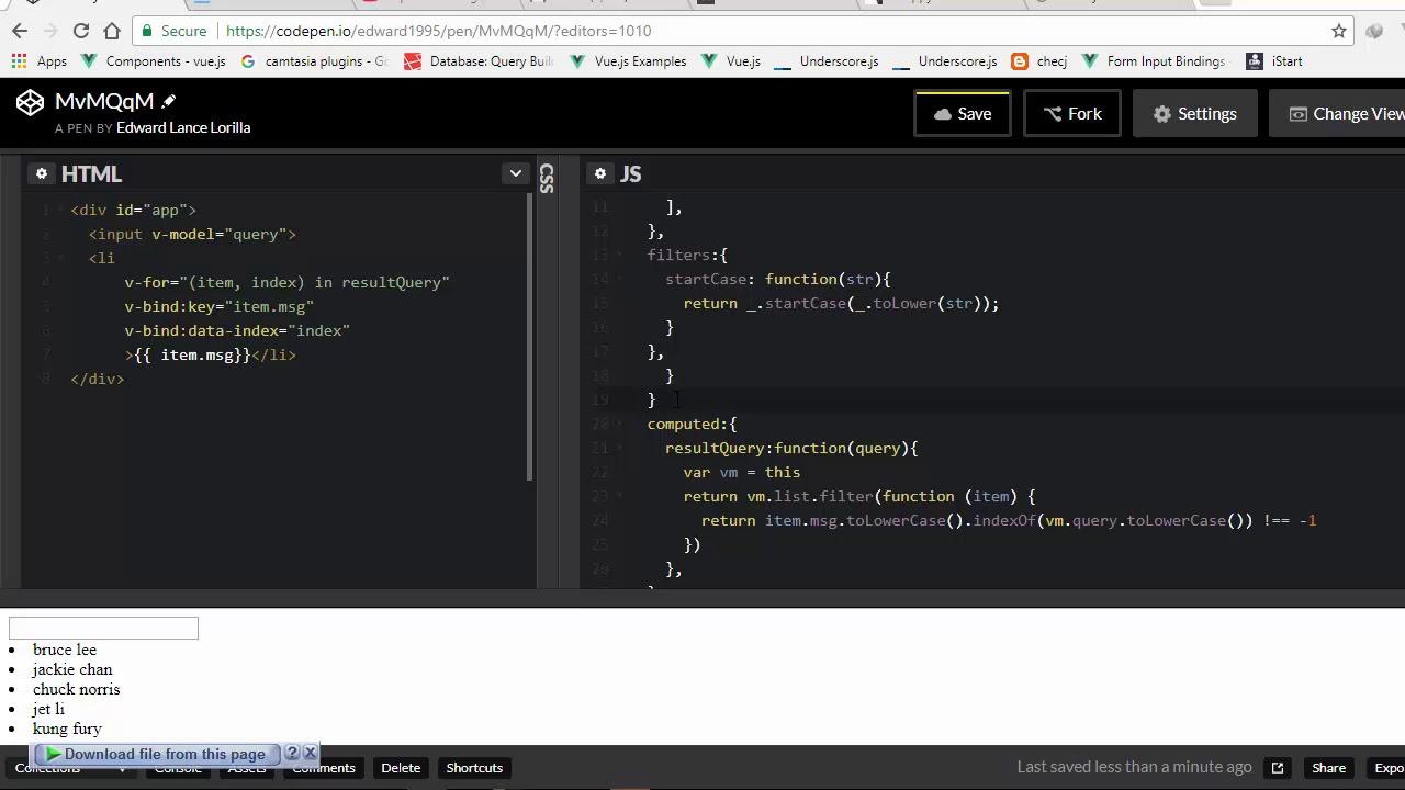 simple filter and lodash js vuejs essentials
