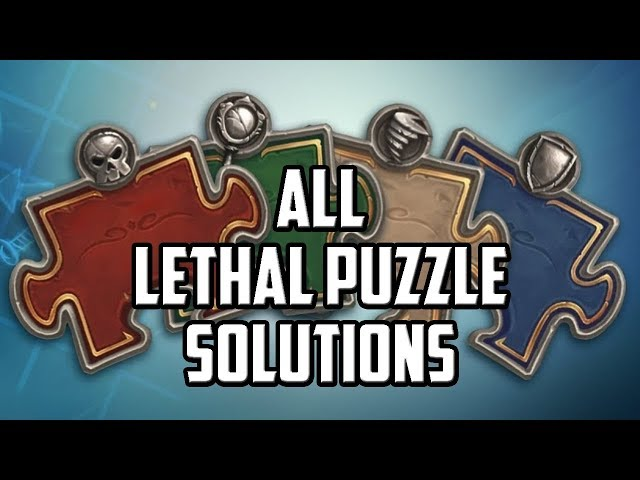Lethal Puzzle Solutions - Hearthstone Puzzle Labs