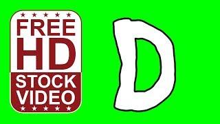 Libre de valores Videos animados por la letra D del estilo de dibujos animados en movimiento en la pantalla verde de animación 2D