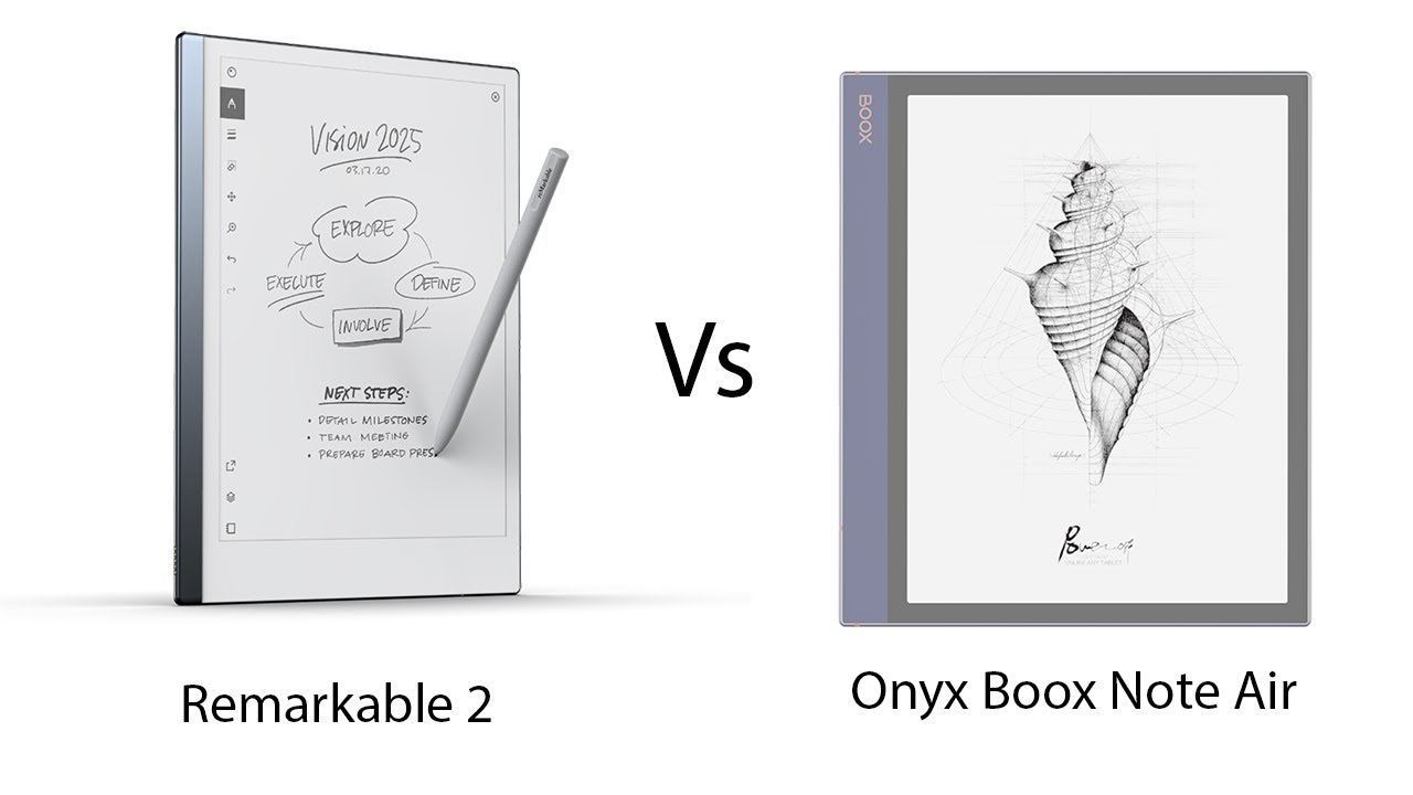 Remarkable 2 vs Onyx Boox Note Air