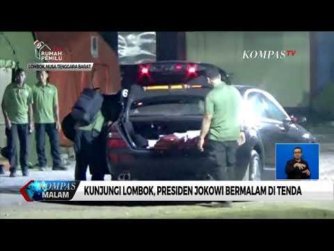Jokowi Kunjungi Korban Gempa Lombok