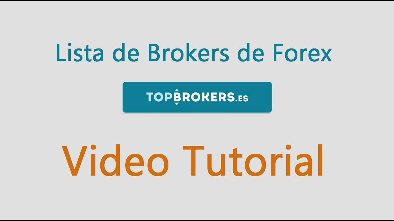 Lista de brokers de forex