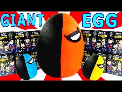 HUGE Funko Mystery Minis Play Doh Surprise Egg Deathstroke DC Comics Super Heroes LEGO Toys