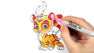 Drawing and Coloring Palace Pets (Sultan and Taj) | Palace Pets (Sultan ve Taj) Çizme ve Boyama