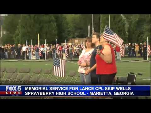 Memorial for Lance Cpl Skip Wells at