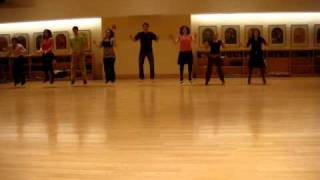 Columbia Glass House Rocks Routine 2010 back row (Practice)