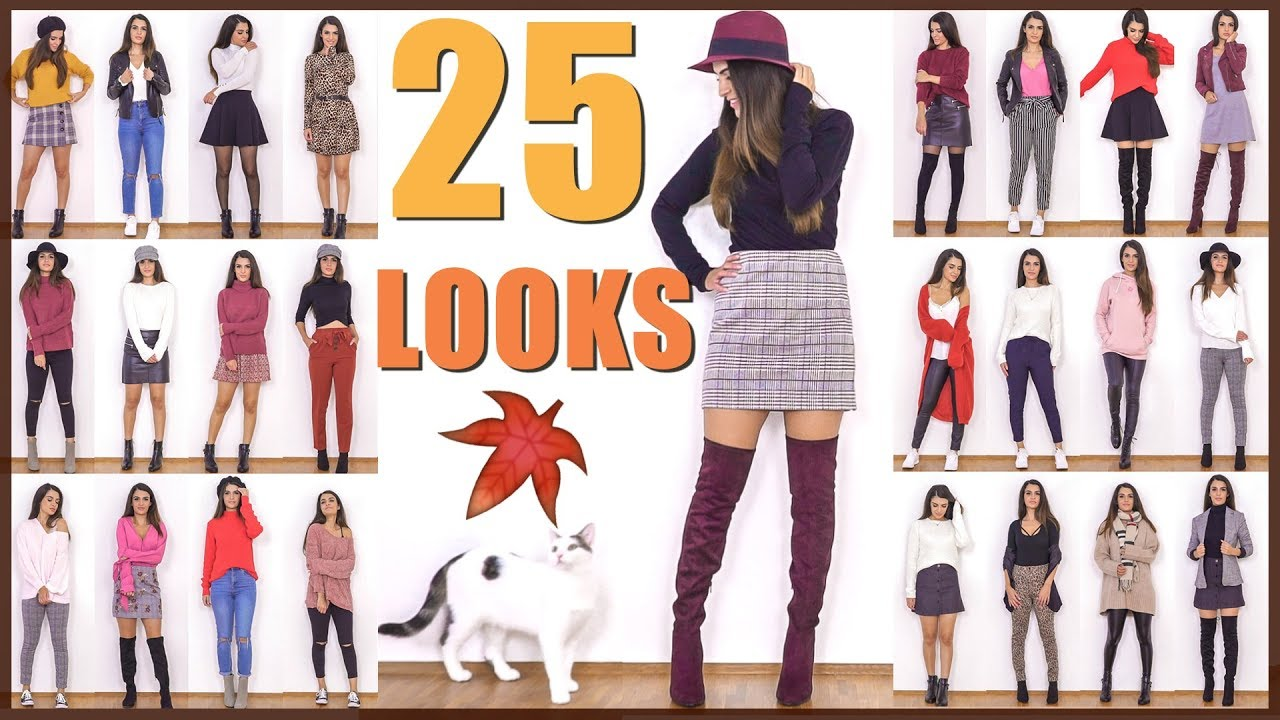 [VIDEO] - 25 OUTFITS  | FALL LOOKBOOK 2018 ?| HERBST FASHION | KINDOFROSY 2