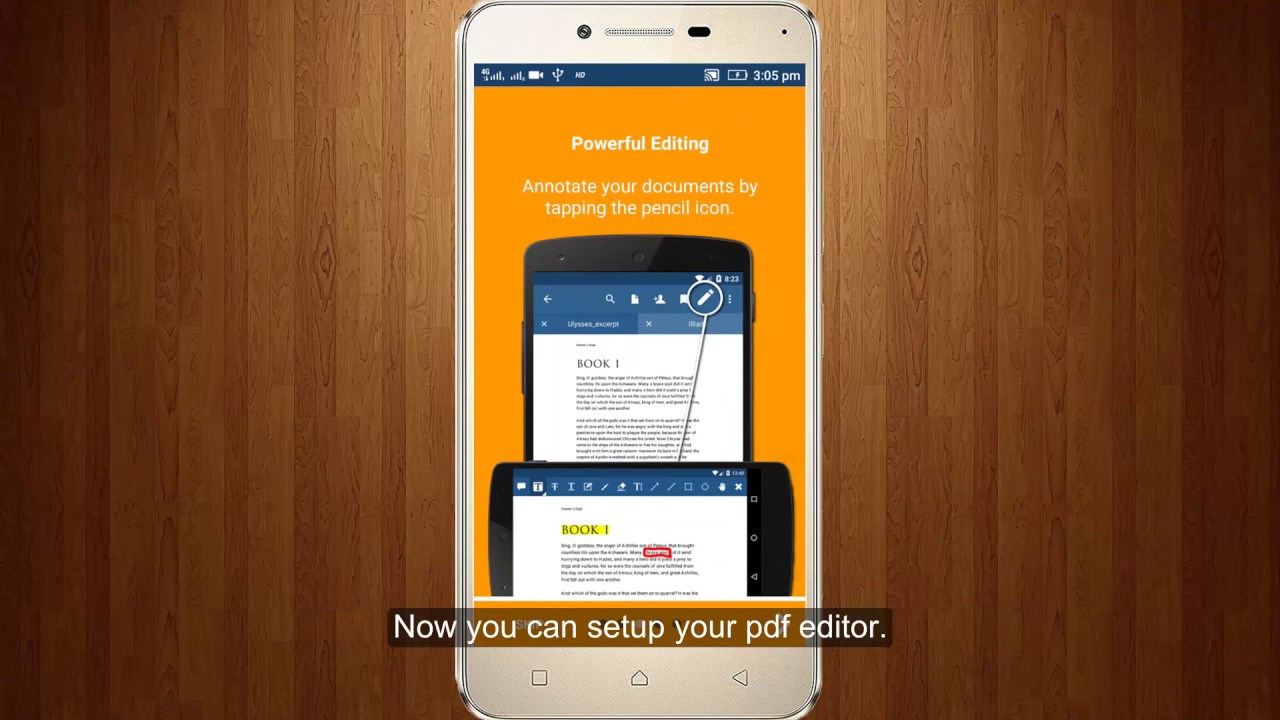 How to edit PDF Files in Android mobile phone Tablet