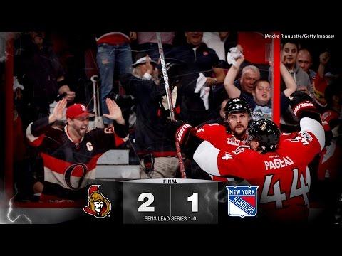 Game 1 - Sens vs. Rangers - Post-game Media