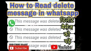 "how to read deleted messages on whatsapp messager "" recover deleted whatsapp messages"