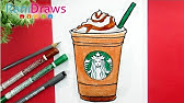 Drawing Starbucks Caramel Frappuccino Youtube