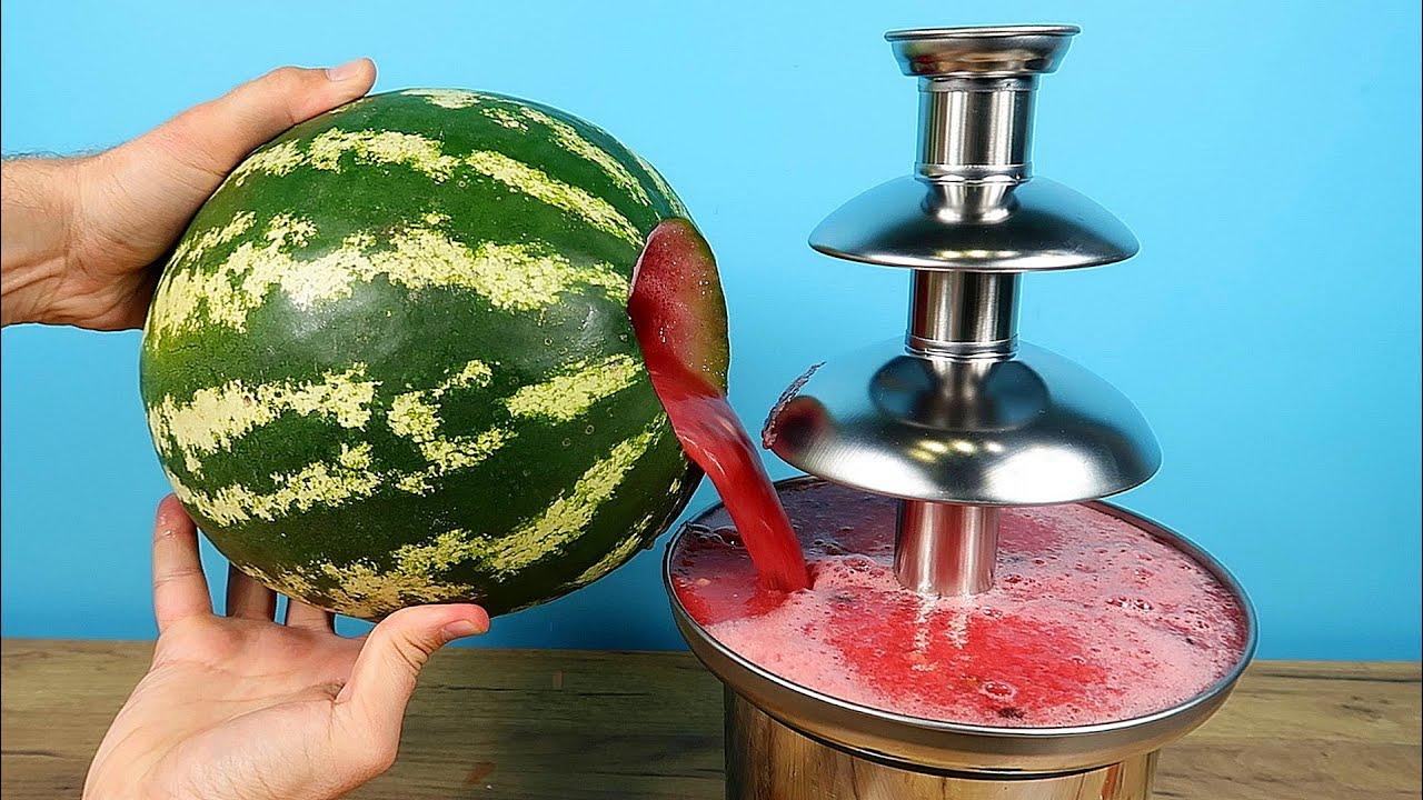 Что если залить арбузный сок в Шоколадный фонтан? Новый Шоколадный фонтан! alex boyko