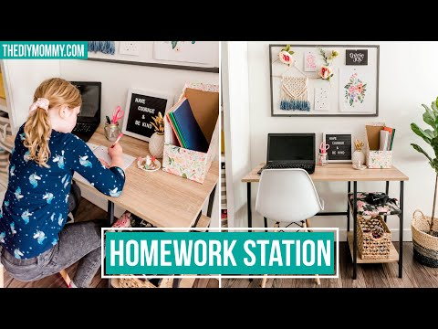 Budget Friendly Kids' School Work Station at Home