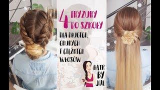 Back to school - 4 fryzury do szkoły dla długich, grubych włosów